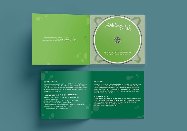 CD Meditationen für dich von Michaela Weidner, Gestaltung Marius Cofflet form 206